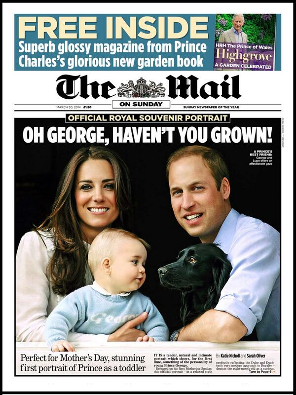 The Daily Mail Front Page for 30 March 2014