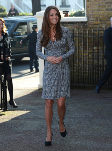 The Duchess of Cambridge visiting a woman's treatment centre run by Action on Addiction