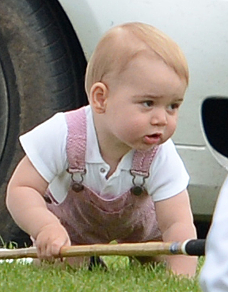 HRH Prince George of Cambridge makes his first appearance in the UK at the Jerudong Polo Trophy to spend the day with Prince William for Father's Day