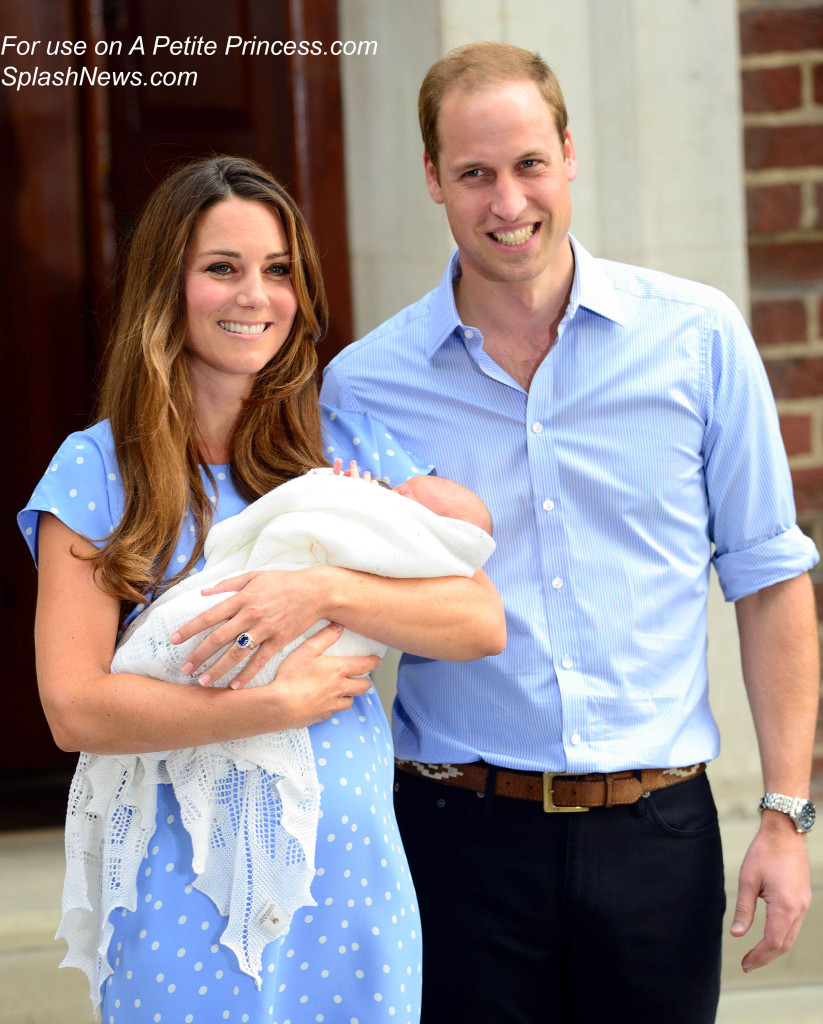 The Duke and Duchess of Cambridge present Baby Cambridge