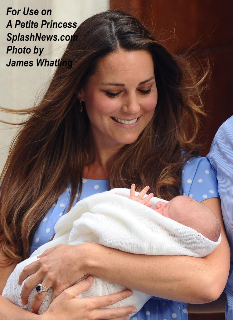 The Duke and Duchess of Cambridge present their newborn baby son