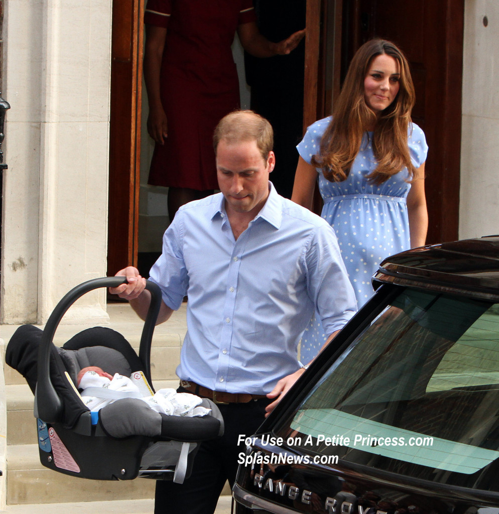 Duke and The Duchess of Cambridge and their baby boy
