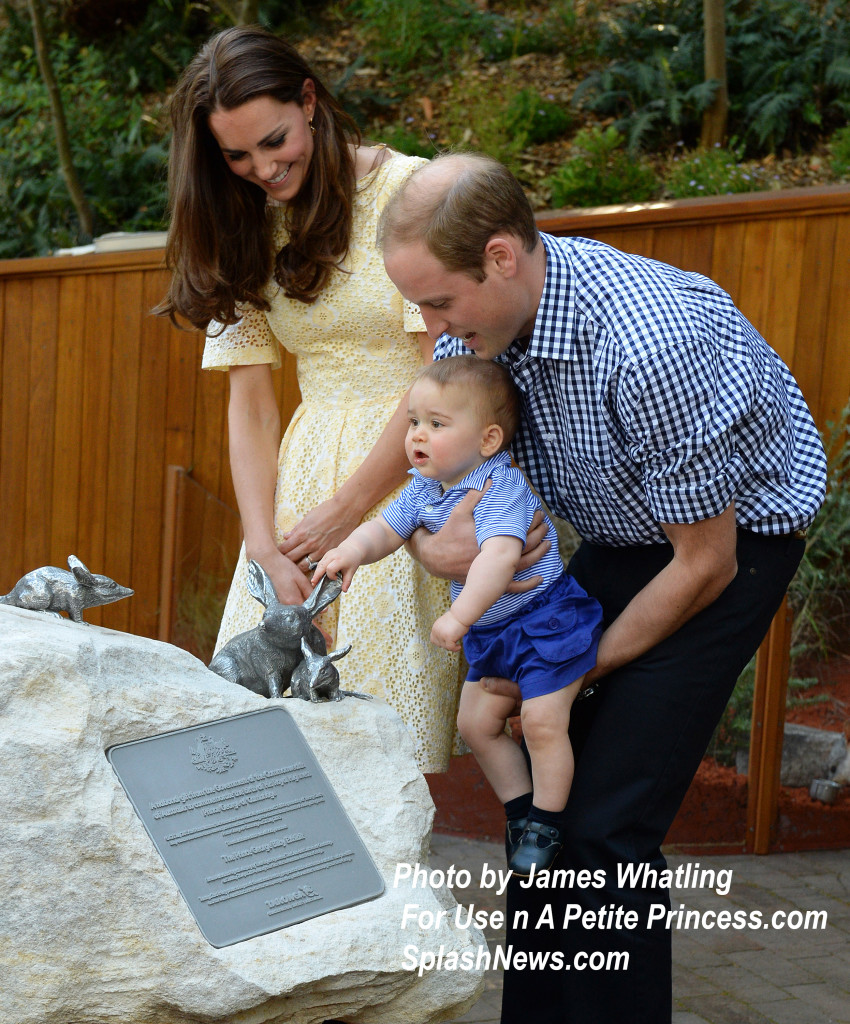 The Duke and Duchess of Cambridge and Prince George visit Tarongo Zoo
