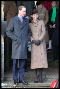 Royals at Christmas Day church service