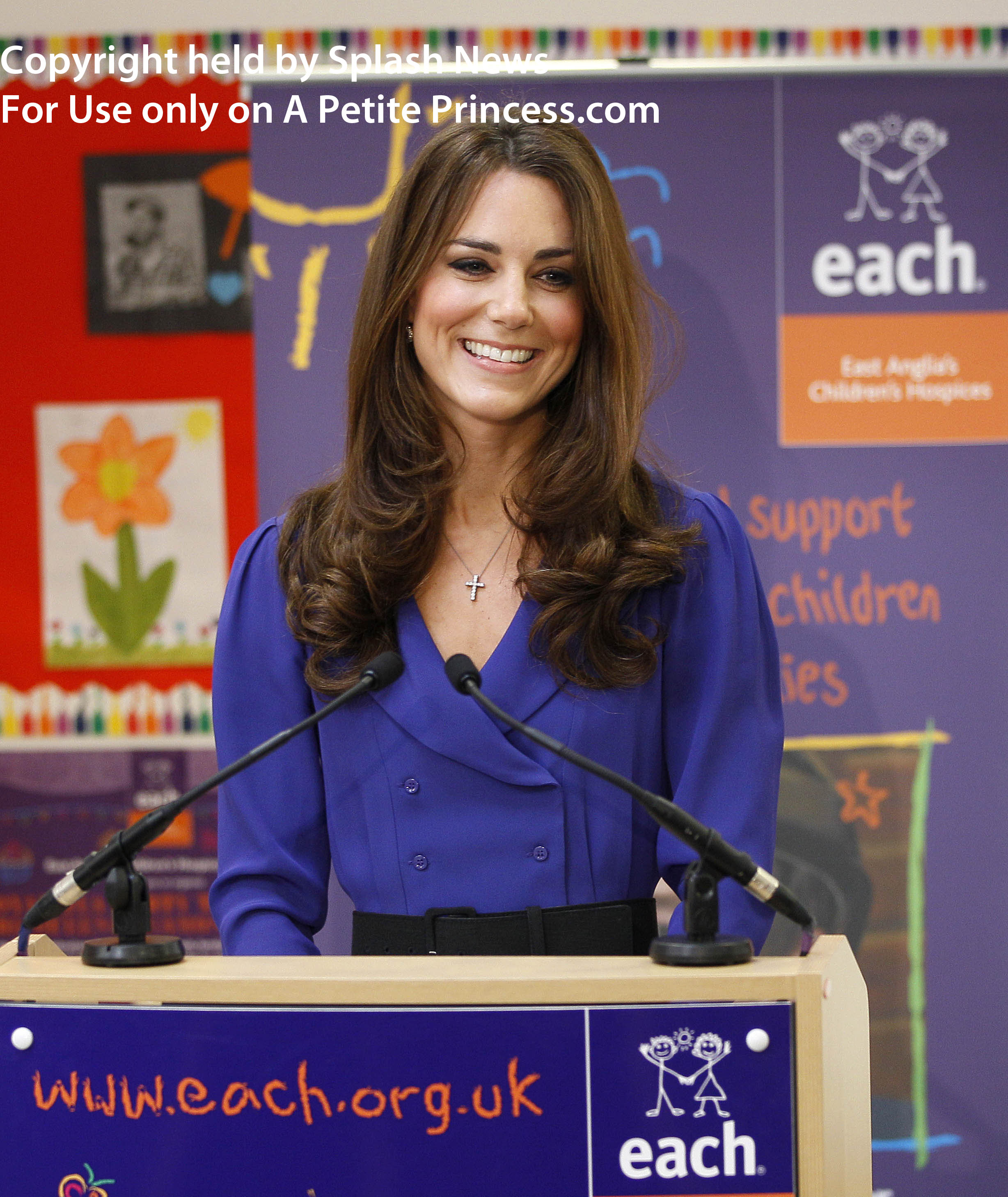 ***No UK sales for 28 days until 19-04-2012*** Catherine, Duchess of Cambridge visits Treehouse Hospice Ipswich