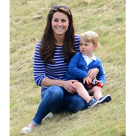 Prince George attends the Festival of Polo at the Beaufort Polo Club, Tetbury, Gloucestershire, UK on June 14, 2015.  Pictured: Duchess of Cambridge, Catherine, Kate Middleton, Prince George of Cambridge Ref: SPL1053508  140615   Picture by: James Whatling  Splash News and Pictures Los Angeles:	310-821-2666 New York:	212-619-2666 London:	870-934-2666 photodesk@splashnews.com