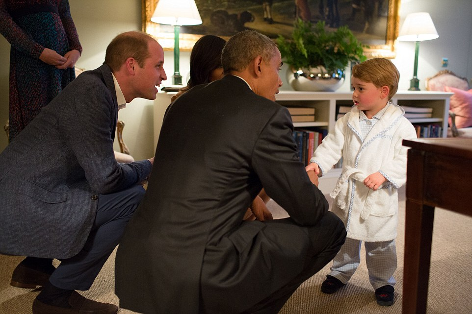 Prince George Stays up a Tad Late to Meet A World Leader