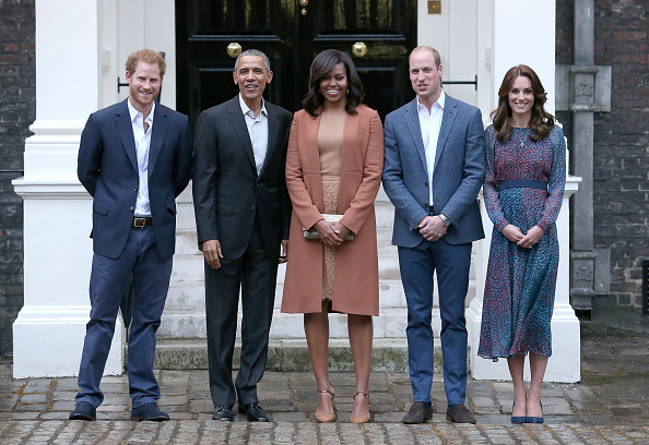 The Duke and Duchess of Cambridge and Prince Harry Host President and Mrs. Obama for Dinner at Kensington Palace