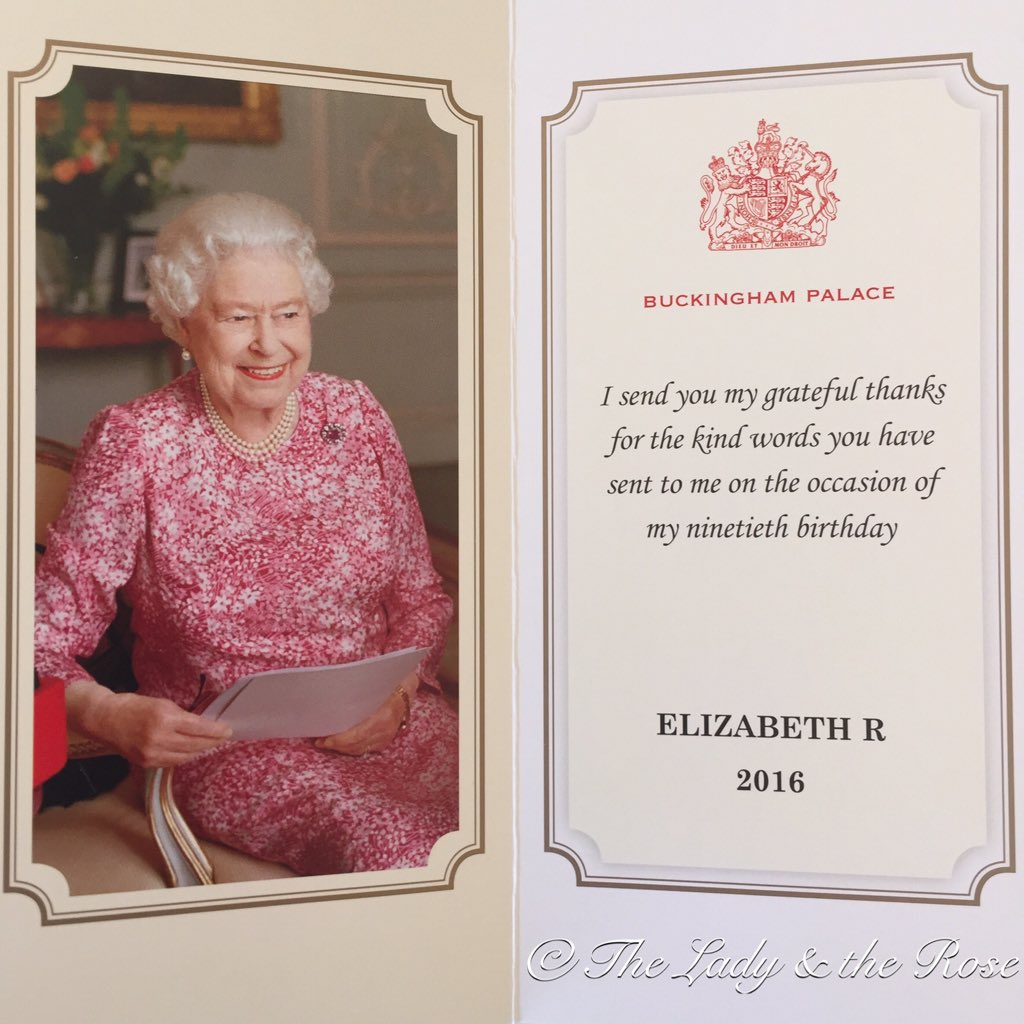 I Wrote to Her Majesty for her 90th Birthday, Here is her Response