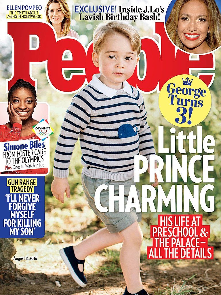 Prince George On Cover of People as he turns 3