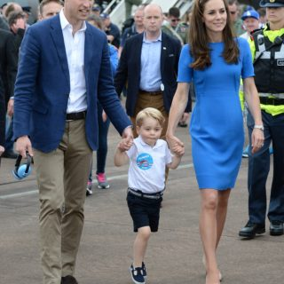 The Duke & Duchess of Cambridge & Prince George at RAF Fairford
