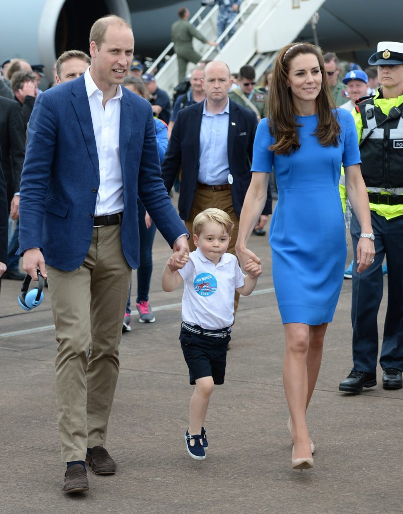 William & Catherine attend SAS 75th anniversary service with Prince George