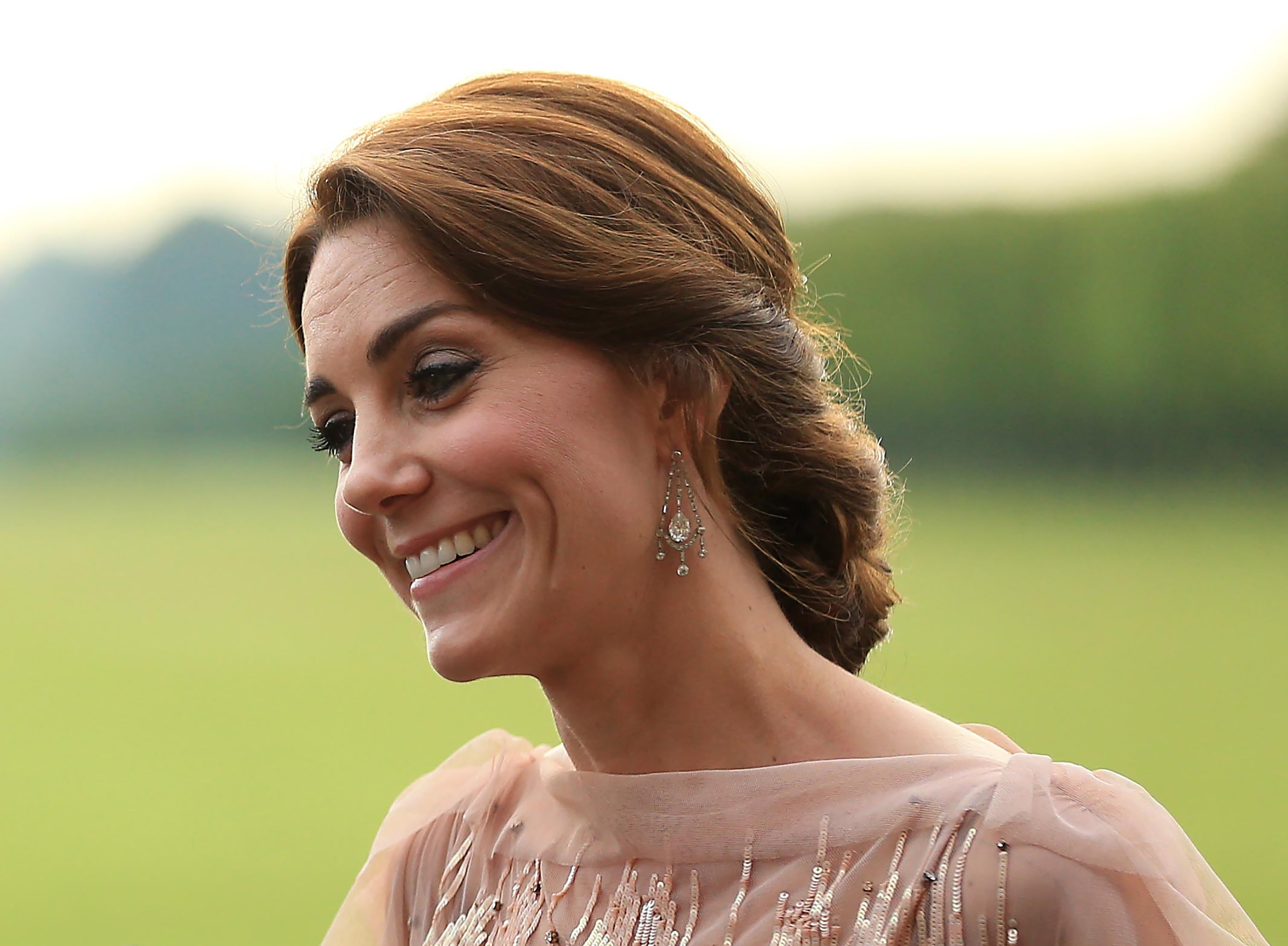 The Duke and Duchess of Cambridge attend a gala dinner in support of East Anglia's Children's Hospices' Nook appeal at Houghton Hall, King's Lynn, Norfolk, UK, on the 22nd June 2016. Picture by Stephen Pond/WPA-Pool Pictured: Duchess of Cambridge, Catherine, Kate Middleton Ref: SPL1306786  220616   Picture by: Splash News Splash News and Pictures Los Angeles:310-821-2666 New York:	212-619-2666 London:	870-934-2666 photodesk@splashnews.com