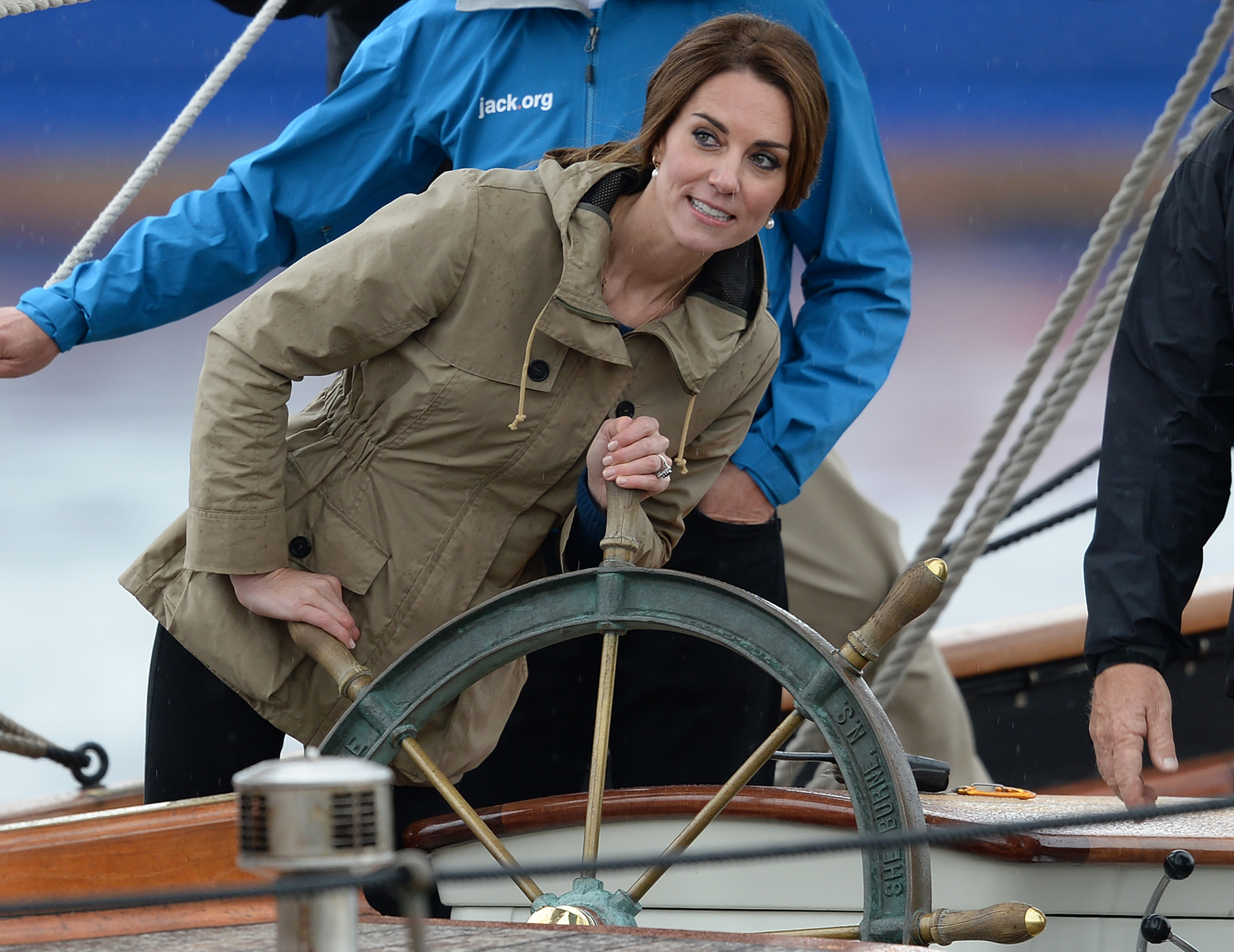 The Duke and Duchess of Cambridge sail on a Tall Ship