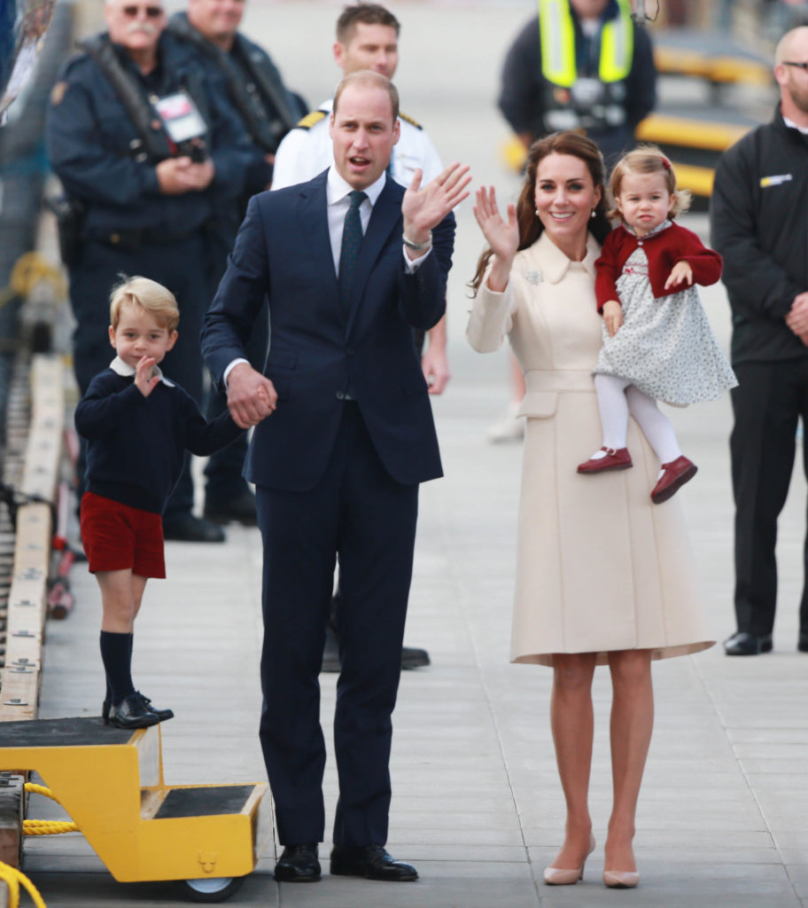 The Duke and Duchess of Cambridge along with Prince George and Princess Charlotte on tour in Victoria, Canada