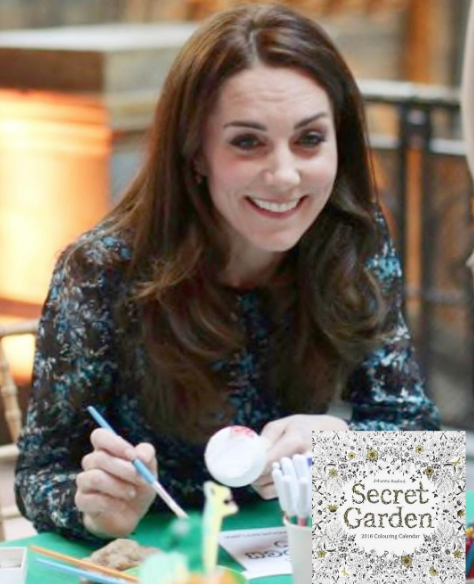 Catherine Likes to Colour with George and Charlotte William Tells OBE Recipient