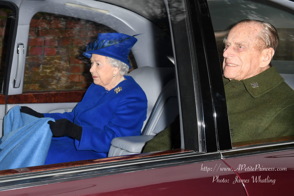 The Queen and The Duke of Edinburgh attend Sunday Service at St Mary Magdalene Church, Sandringham, Norfolk, UK, on the 8th January 2017. Picture by James Whatling