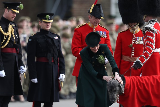 Catherine chooses Catherine Walker for St Patrick's Day with the Irish Guards