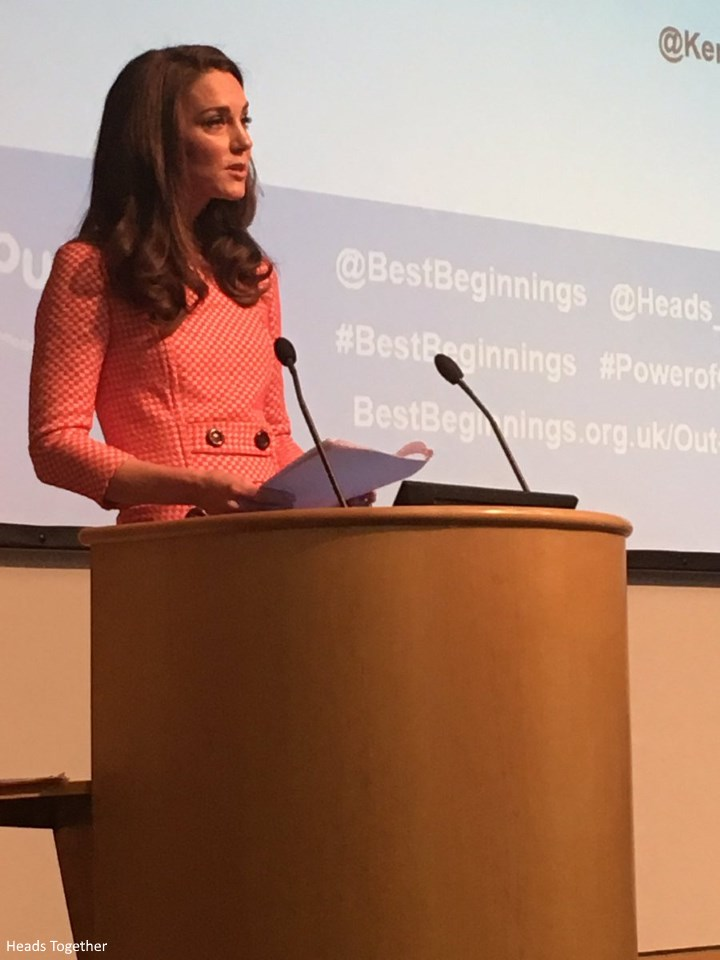"A Speech By The Duchess of Cambridge at the Best Beginnings ""Out of the Blue"" Film Series Launch"