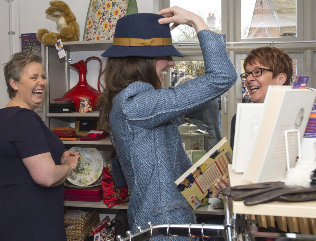 Hat Tried on by Catherine at EACH Charity Shop Raises over £800 at Auction