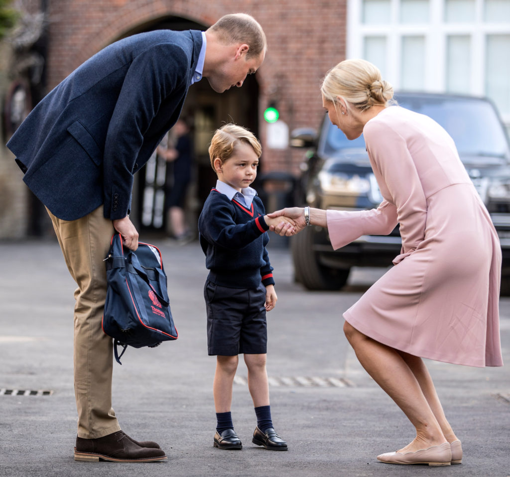 Prince William Does the First Day of School Run Solo as Catherine Still too Ill