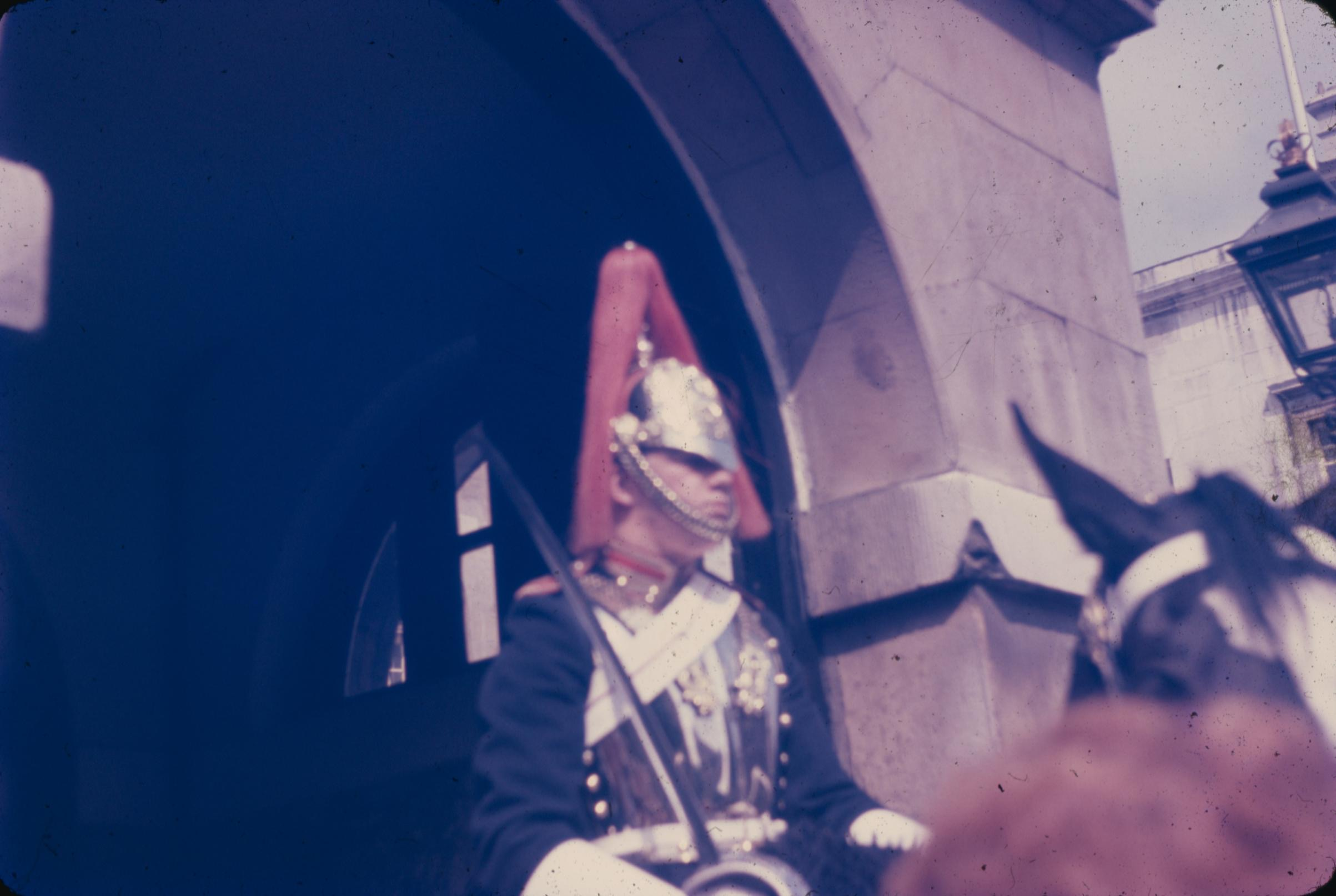 Like Father Like Daughter -- His photo of a member of the Blues & Royals on Horseback at the Horseguards Parade Ground
