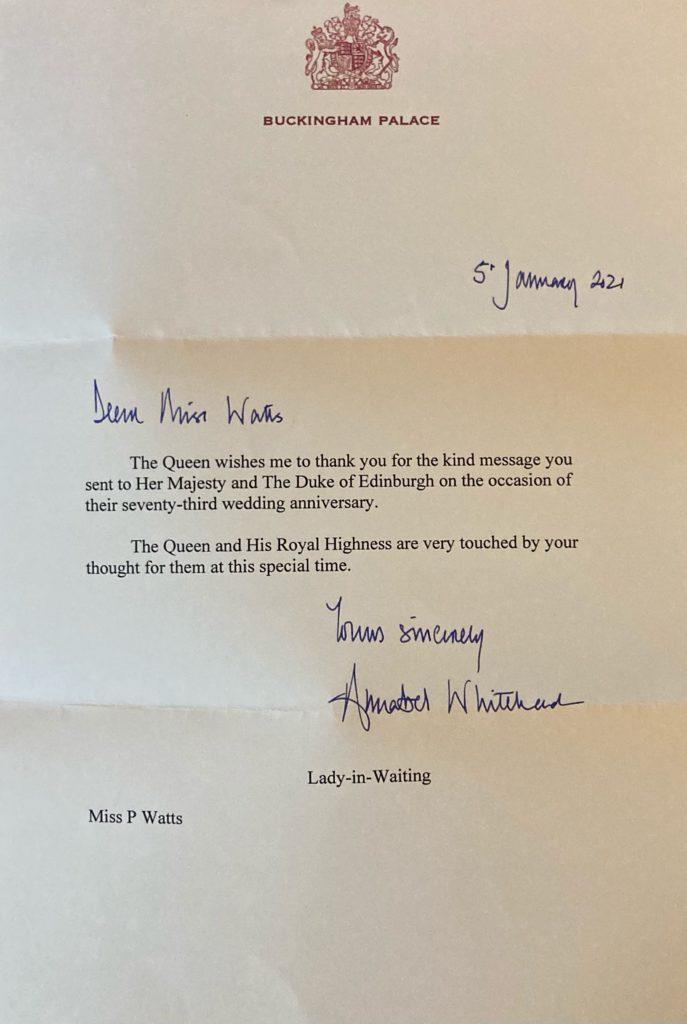 73rd Anniversary Reply