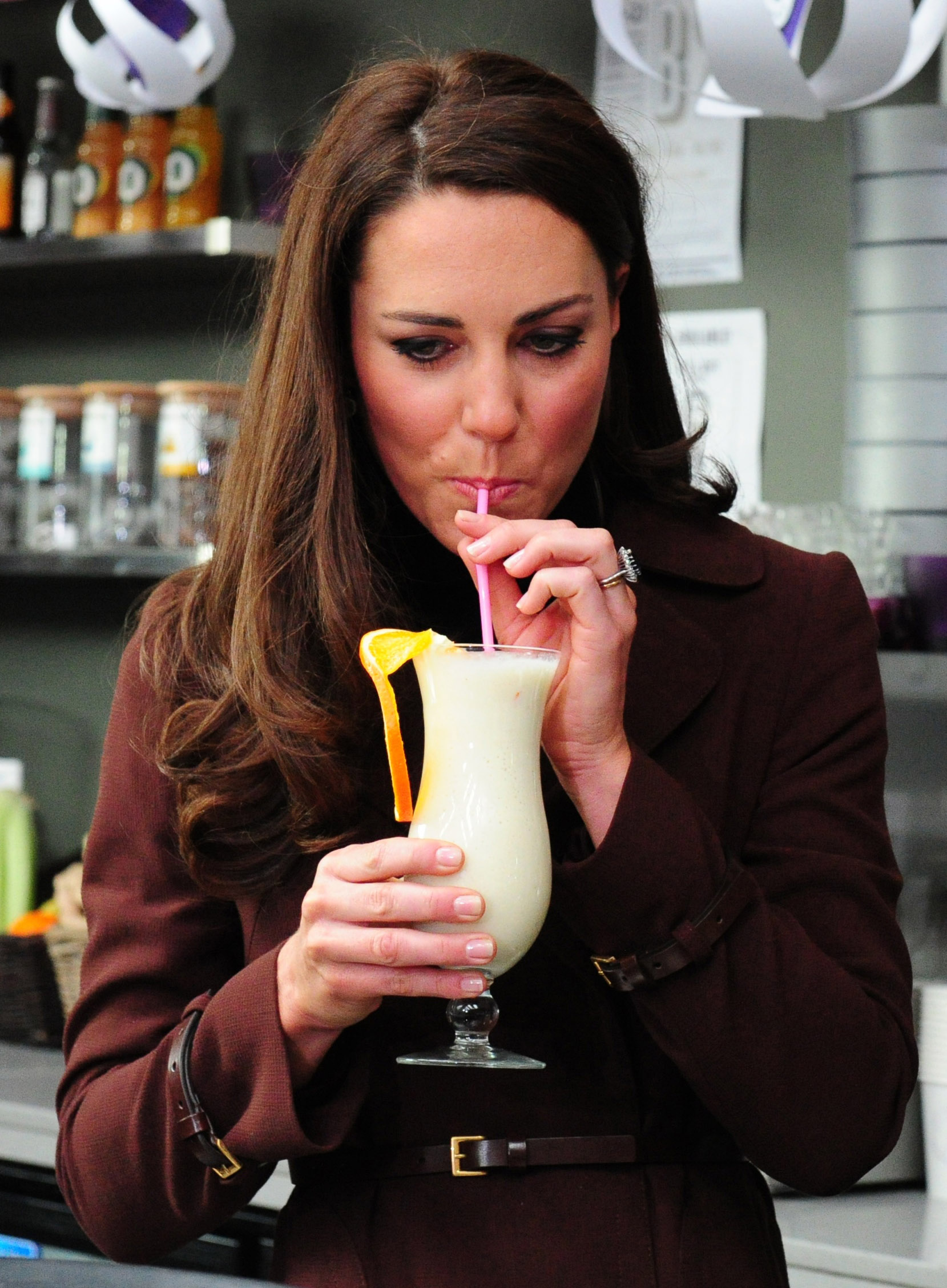 The Duchess of Cambridge visits Liverpool on Valentine's Day 2012