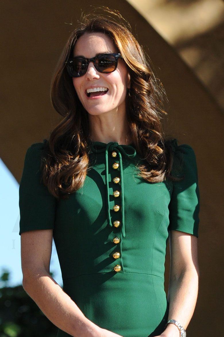 Kate wearing her Ray-Ban Folding Wayfarer's